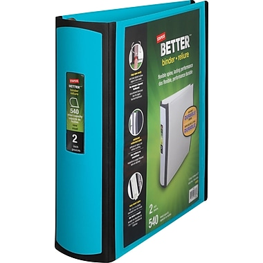 Staples Better 2-Inch D 3-Ring View Binder, Teal (13470-CC)