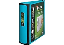 2' Staples® Better® View Binder with D-Rings, Teal