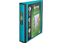 1-1/2' Staples® Better® View Binders with D-Rings, Teal
