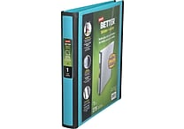 Staples Better 1-Inch D-Ring View Binder, Teal (13466-CC)