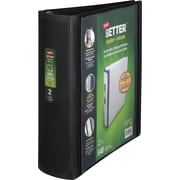 2 Staples® Better® View Binder with D-Rings, Black