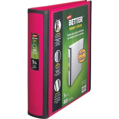 1-1/2in. Staples® Better® View Binders with D-Rings, Pink