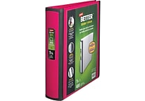 Staples Better 1.5-Inch D-Ring View Binder, Pink (13569-CC)