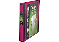 1' Staples® Better® View Binder with D-Rings, Pink