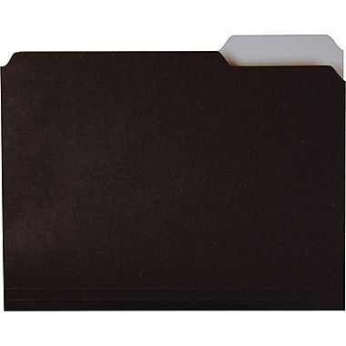 Ampad Envirotec™ 100% Recycled Colored Top-Tab File Folders, Black & White, LETTER-size Holds 8 1/2