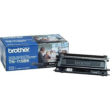 Brother TN115BK Black Toner Cartridge, High Yield