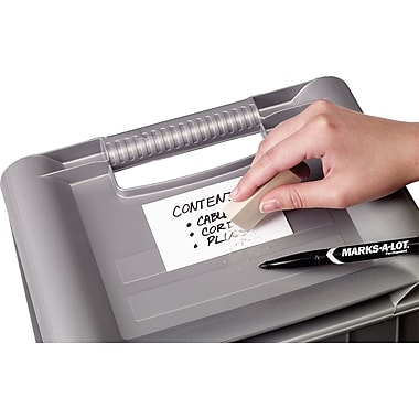 Avery® 5431 White Erasable ID Labels, 2 7/8in. x 3 7/8in.