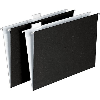 Ampad Envirotec 100% Recycled Hanging File Folders, Letter size, Black/White