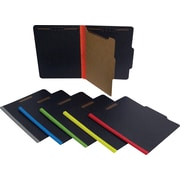 SJ Paper Fusion™ 4 in 1® Classification Folders, Black & Yellow, LETTER-size Holds 8 1/2 x 11, 20/Bx