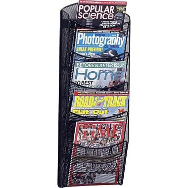 Safco® Onyx 5-Pocket Wall Magazine Rack