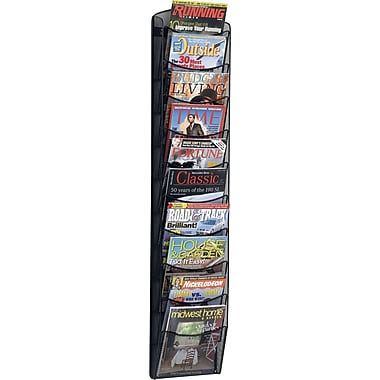 Safco® Onyx 10-Pocket Wall Magazine Rack