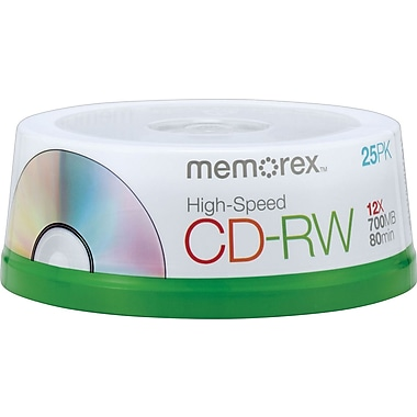 Memorex 25/Pack 700MB CD-RW, Spindle