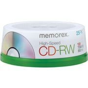 Memorex™ 25/Pack 700MB CD-RW, Spindle