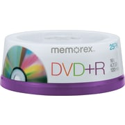 Memorex™ 25/Pack 4.7GB DVD+R, Spindle