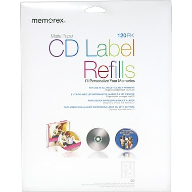 Memorex Matte CD Labels, 120/Pack