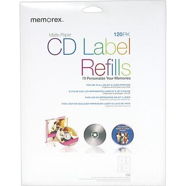 Memorex Matte CD Labels, 120/Pack