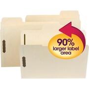 Smead® SuperTab® Fastener File Folders, 2 Fastener, Oversized Reinforced 1/3- Cut Tab, Letter Size, Manila, 50/Box (14535)