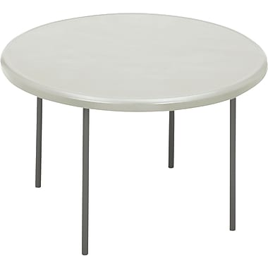 Iceberg 1200 Series 4' Indestruc-Tables Too™ Round Resin Folding Banquet Table, Platinum