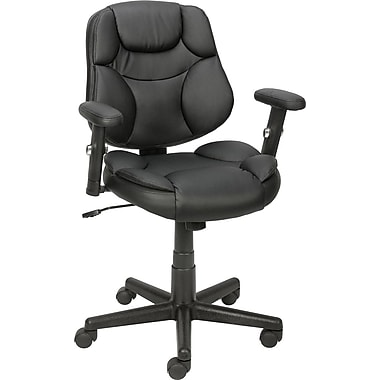 Staples Berwell Luxura Task Chair with Arms, Black