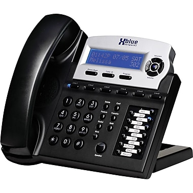 XBLUE X16 6-Line Small Office Digital Telephone, Charcoal