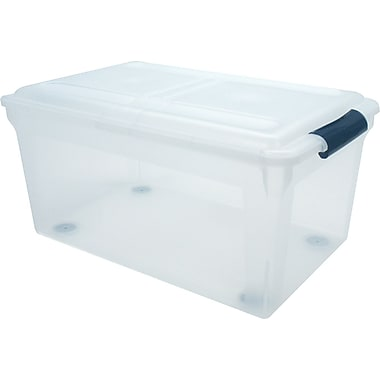 Staples® File Tote, Clear