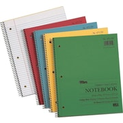 TOPS® Spiral-Bound Notebooks, 11x9, Perforated, College Ruled, White, Punched, 80 Sheets/Pad