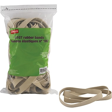 Staples® Rubber Bands, #107, 7