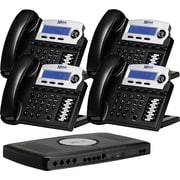 XBLUE X16 4-Line Small Office Telephone System, 4pk - Charcoal
