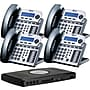 XBLUE X16 4-Line Small Office Telephone System, 4pk