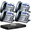 XBLUE X16 4-Line Small Office Telephone System, 4pk - Titanium Metallic