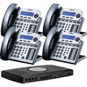XBLUE X16 4-Line Small Office Telephone System, 4pk - Titanium Metallic