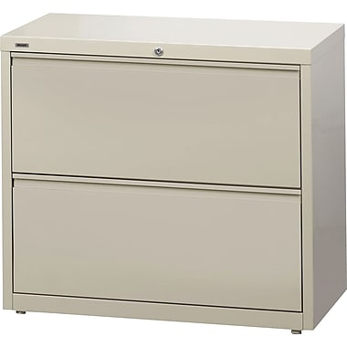 Staples® HL8000 Commercial 36in. Wide 2-Drawer Lateral File Cabinets, Putty