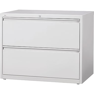 Staples® HL8000 Commercial 36in. Wide 2 Drawer Lateral File Cabinet, Gray