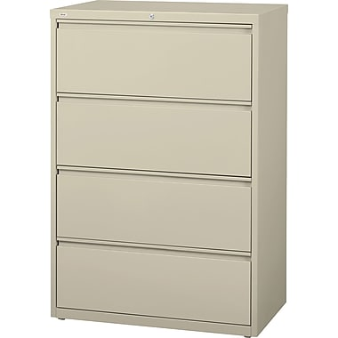 Staples® HL8000 Commercial 36in. Wide 4-Drawer Lateral File Cabinet, Putty