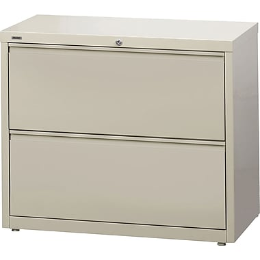 Staples® HL8000 Commercial 42in. Wide 2 Drawer Lateral File Cabinet, Putty