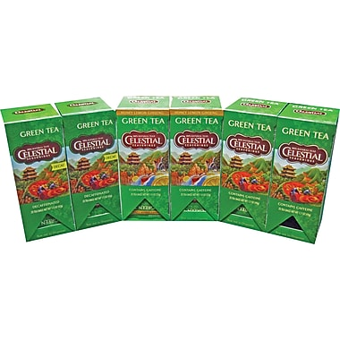 Celestial Seasonings® Green Tea Assortment, Regular & Decaffeinated, 150 Tea Bags