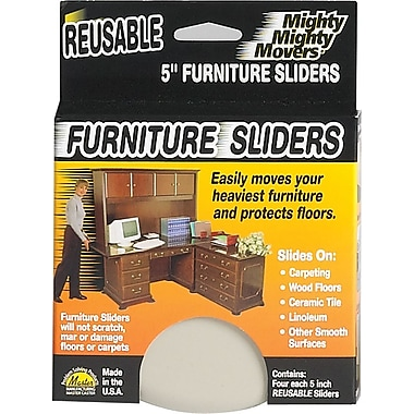 Mighty Mite Furniture Sliders, 5in.