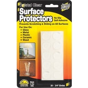"Scratch Guard Self-Adhesive Clear Surface Protectors, 3/4"" Round, 20/Pack"