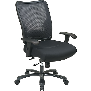 Office Star Big Man Air Grid Chair, Black