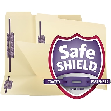 Smead® SafeSHIELD™ Reinforced-Tab Fastener Folders