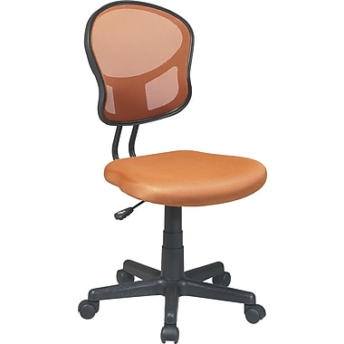 Office Star Mesh Armless Low-Back Task Chair, Orange