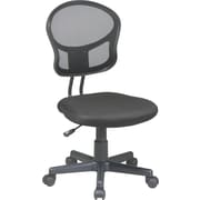 Office Star Low-Back Mesh Task Chair, Armless, Black