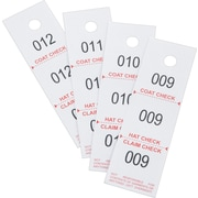 Safco® Three-Part Coat Room Checks, 500/Box