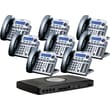 XBLUE X16 6-Line Small Office Telephone System, 8pk - Titanium Metallic