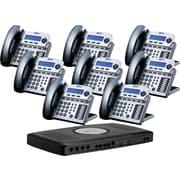 XBLUE X16 6-Line Small Office Telephone System, 8pk - Titanium Metallic
