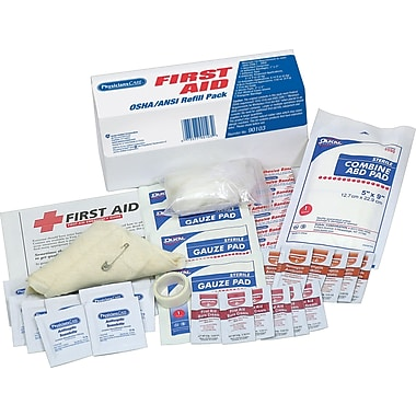 PhysiciansCare® ANSI/OSHA First Aid Refill Kit, Contains 48 Pieces