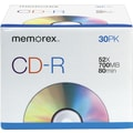 Memorex 30/Pack 700MB CD-R, Slim Jewel Cases