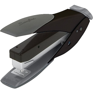 Swingline® SmartTouch™ Compact Half Strip Stapler, 25 Sheet Capacity, Black/Gray