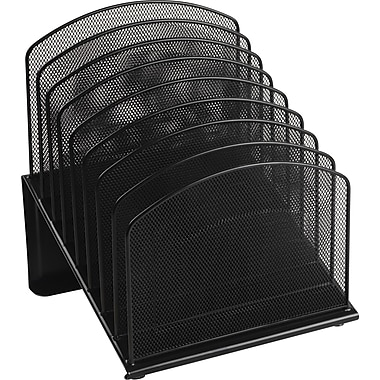 Staples Black Wire Mesh 8-Tier Incline Sorter