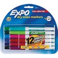 Expo® Low Odor Dry Erase Markers, Assorted, Fine Point, Dozen